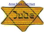 anne frank fact hunt