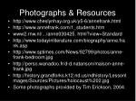 photographs resources