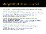 mongodb c driver queries