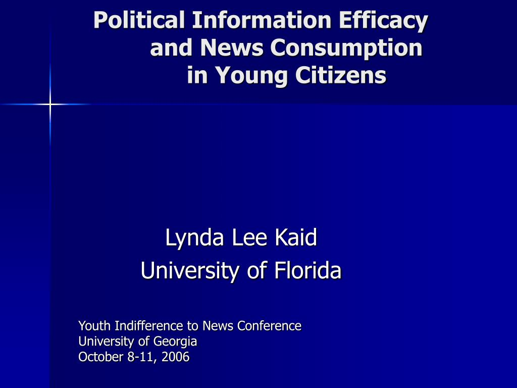 political information efficacy and news consumption in young citizens l.