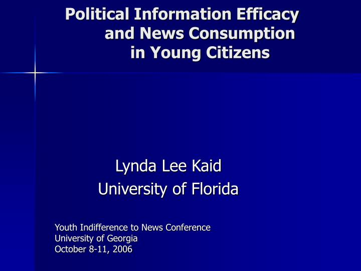 Political information efficacy and news consumption in young citizens