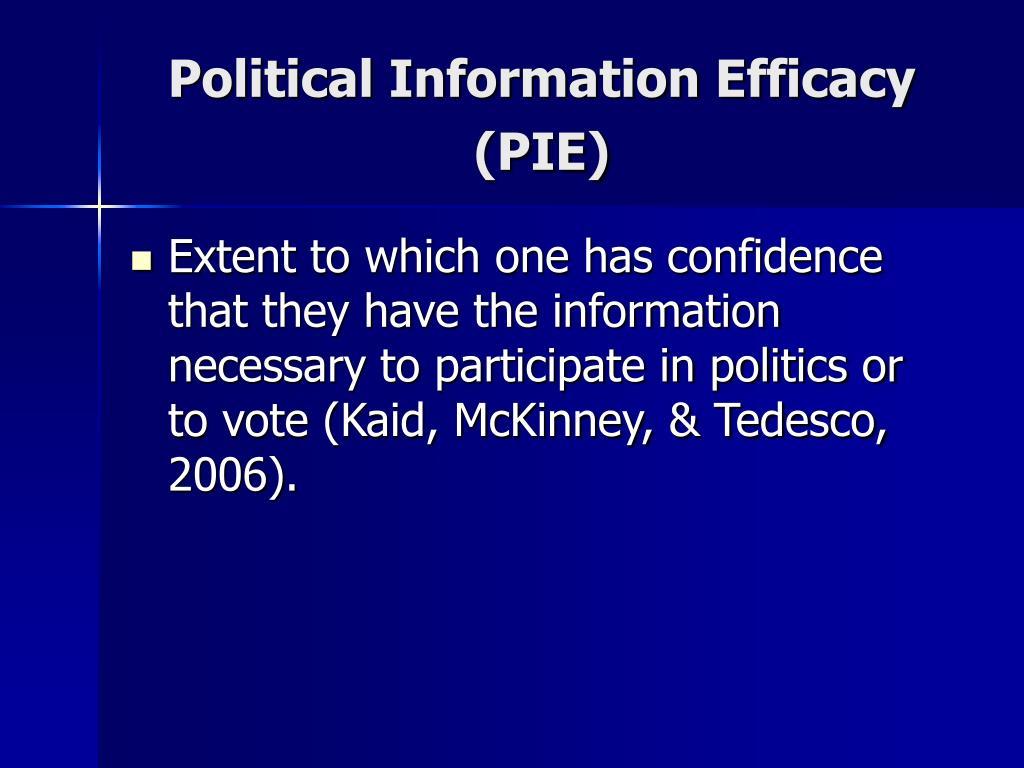 Political Information Efficacy (PIE)
