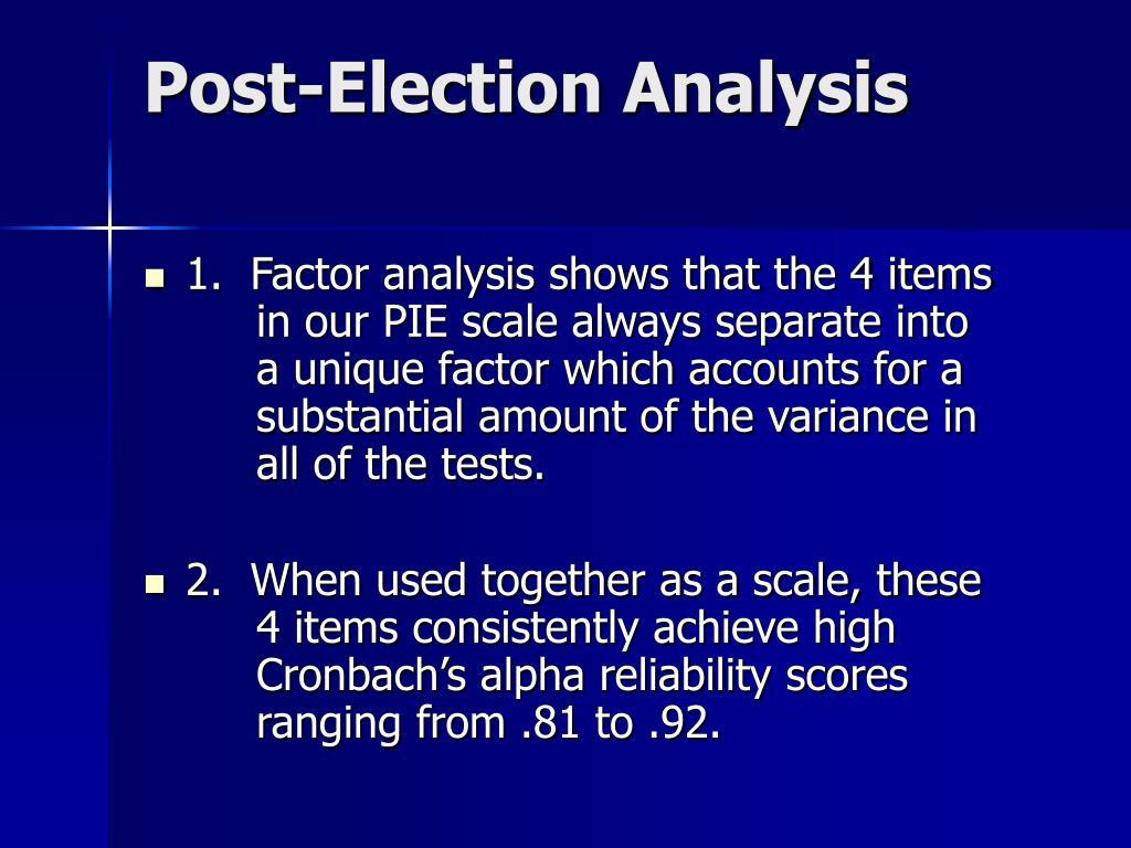 Post-Election Analysis