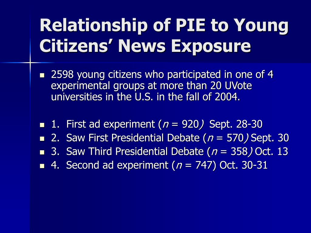 Relationship of PIE to Young Citizens' News Exposure