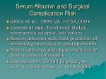 serum albumin and surgical complication risk