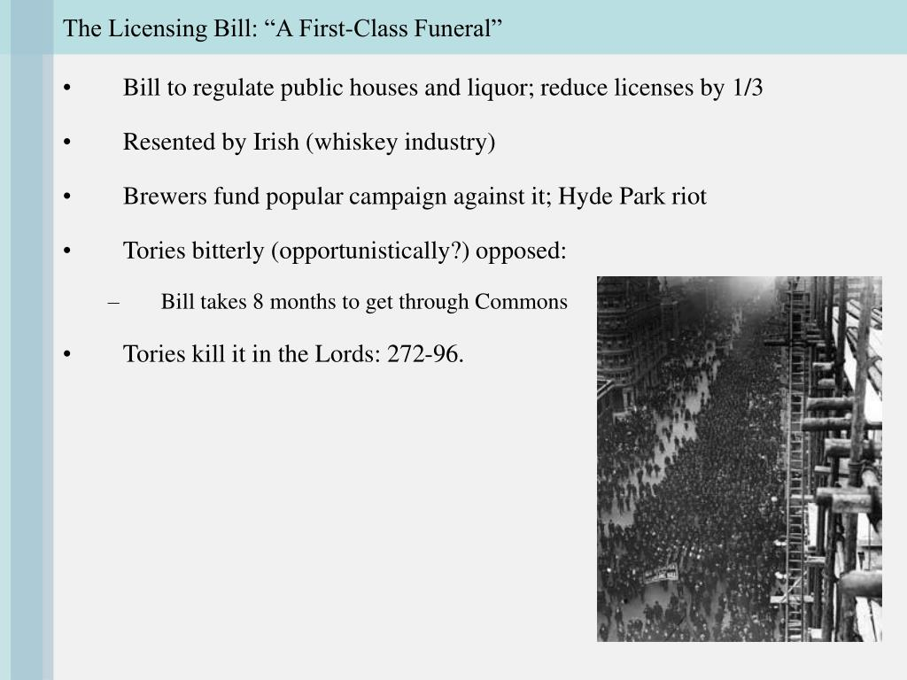 "The Licensing Bill: ""A First-Class Funeral"""