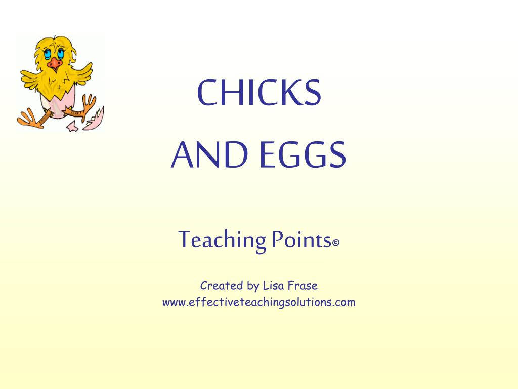 chicks and eggs l.