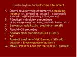 eredm nykimutat s income statement