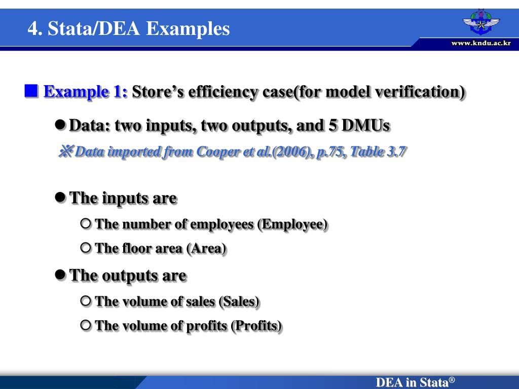 4. Stata/DEA Examples
