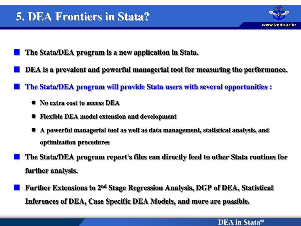 5. DEA Frontiers in Stata?