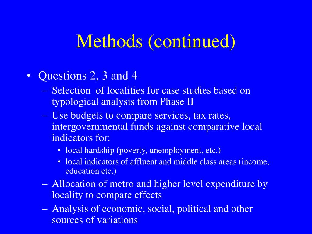 Methods (continued)