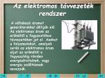 az elektromos t vvezet k rendszer
