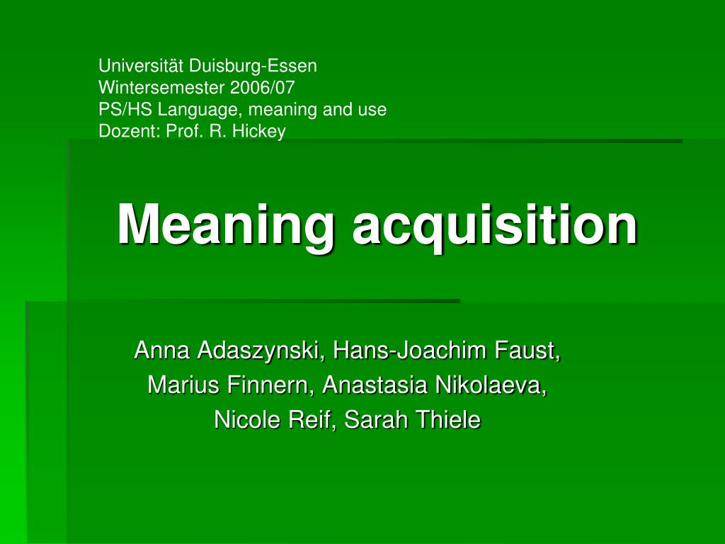 meaning acquisition l.