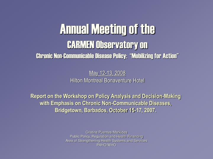 Annual Meeting of the