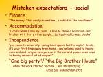 mistaken expectations social