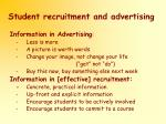 student recruitment and advertising