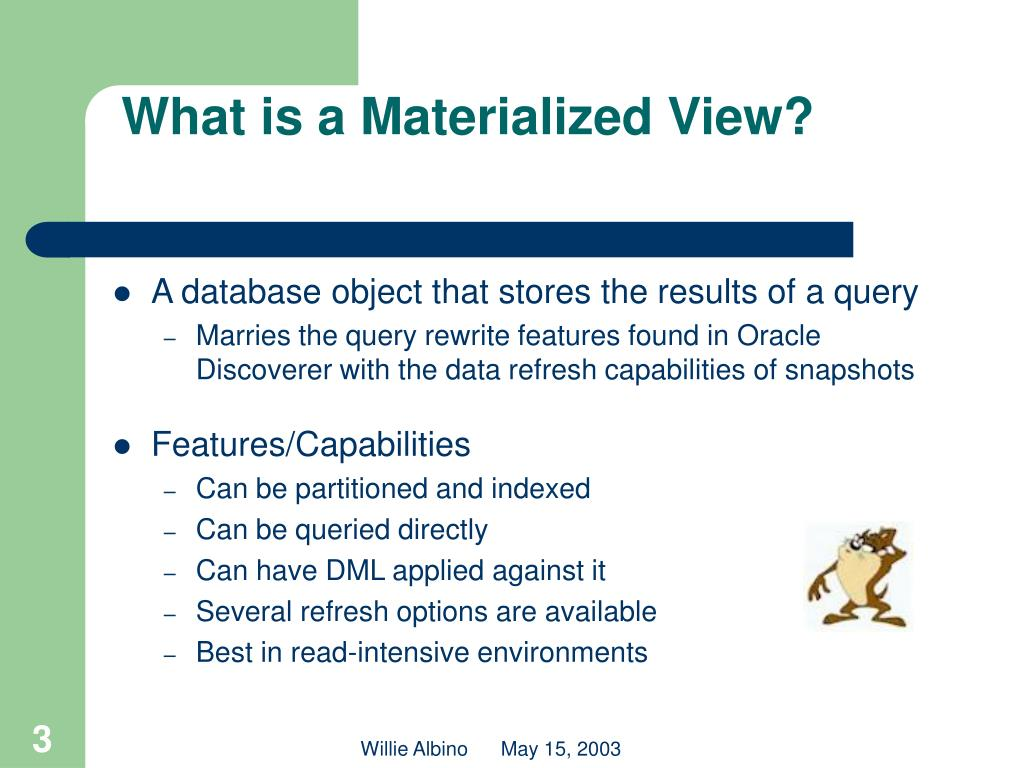 What is a Materialized View?