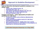 approach to guideline development
