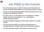 join phdsc to get involved