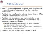 phdsc s role is to