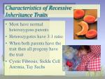 characteristics of recessive inheritance traits