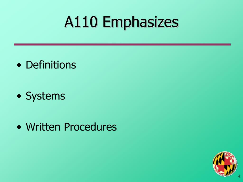 A110 Emphasizes