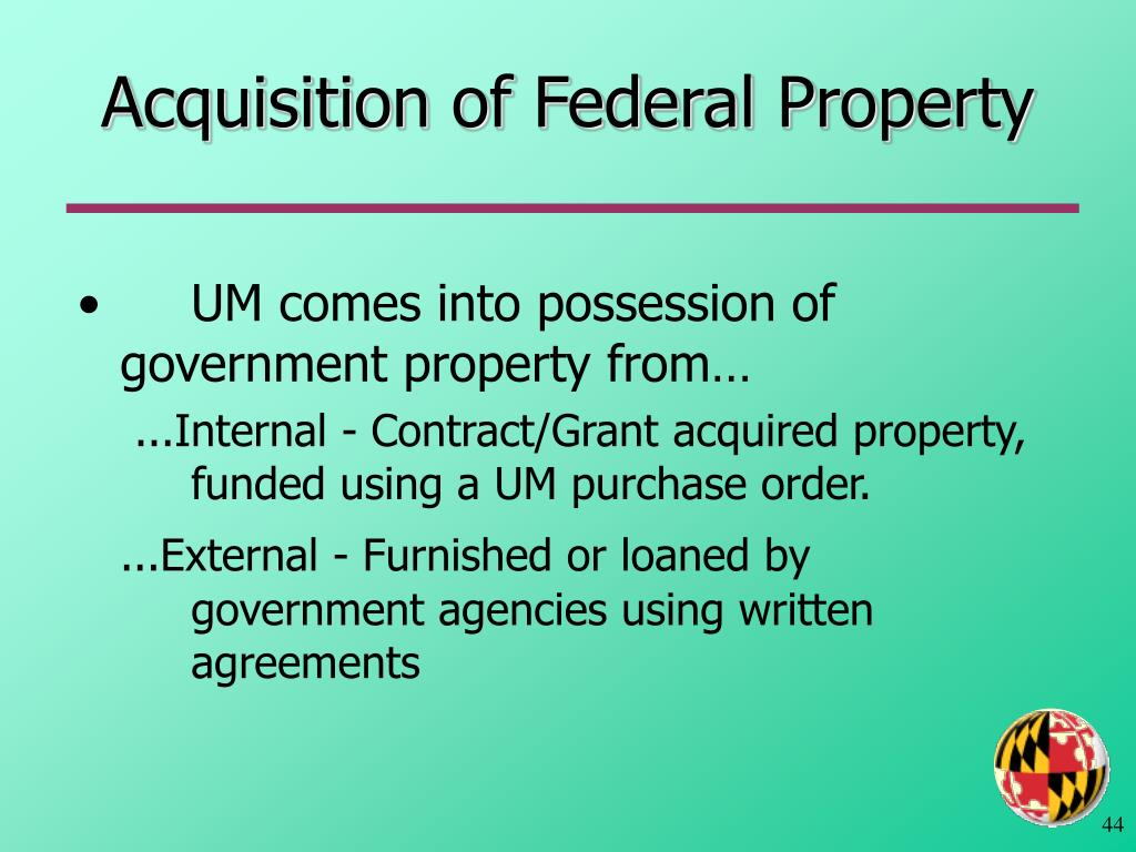 Acquisition of Federal Property