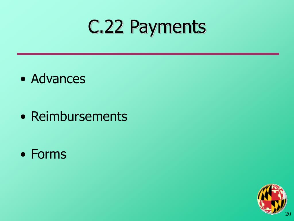 C.22 Payments
