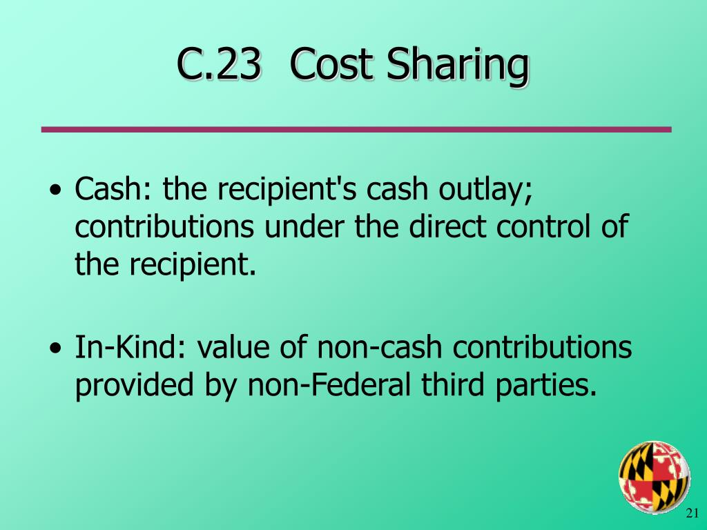 C.23  Cost Sharing