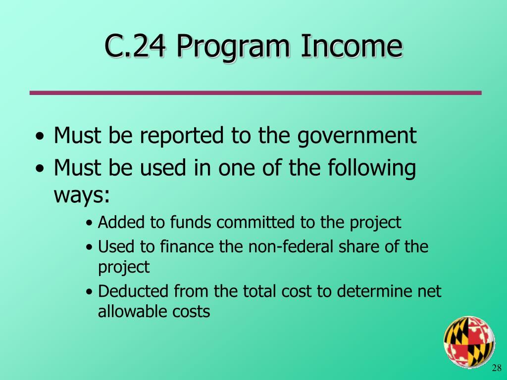 C.24 Program Income