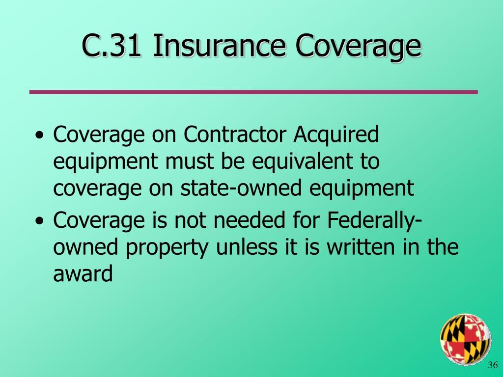 C.31 Insurance Coverage