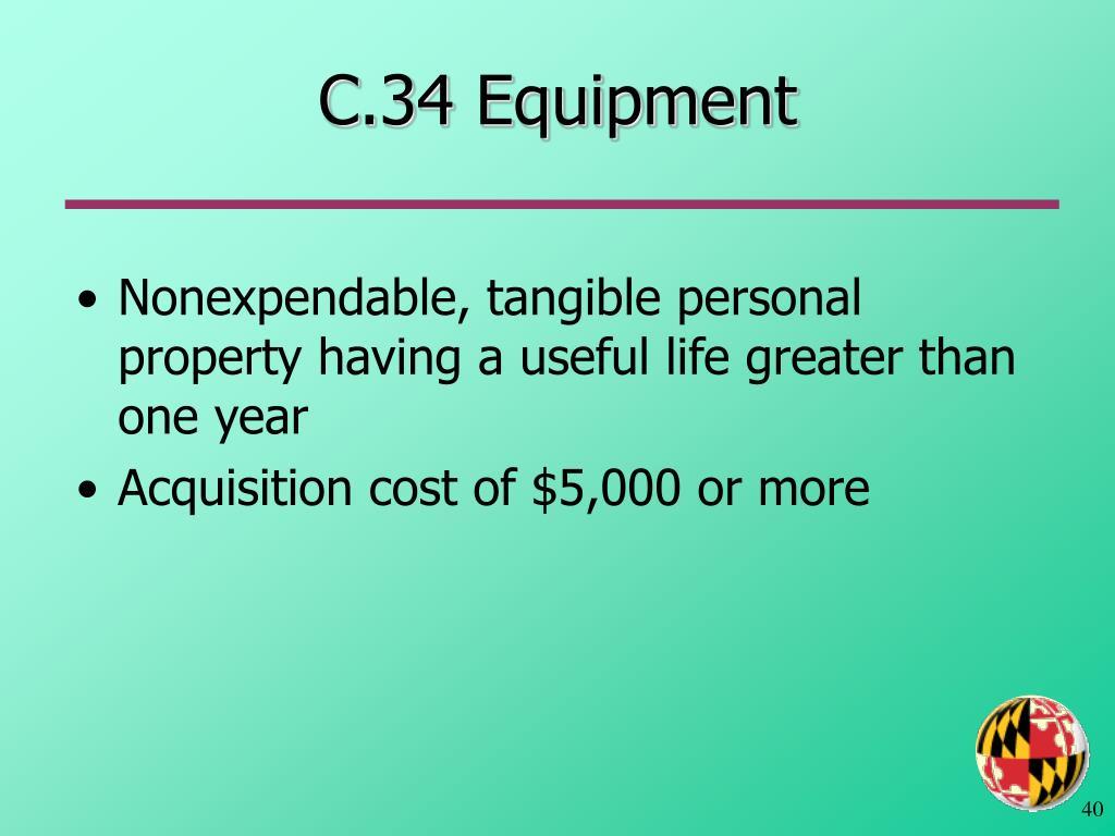 C.34 Equipment