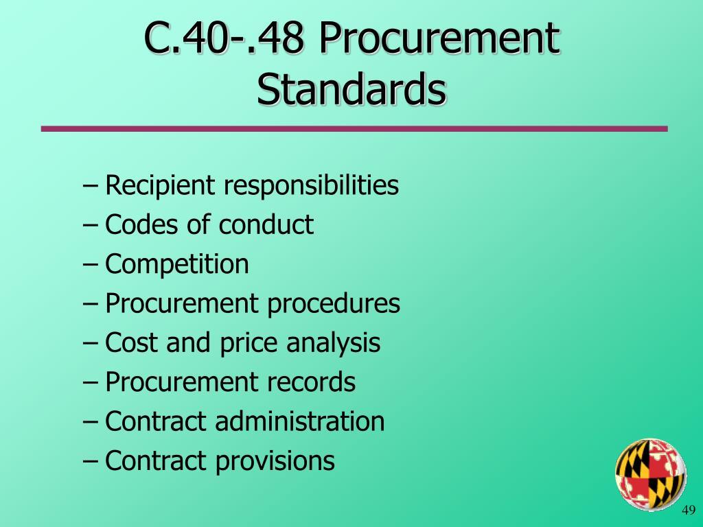 C.40-.48 Procurement Standards