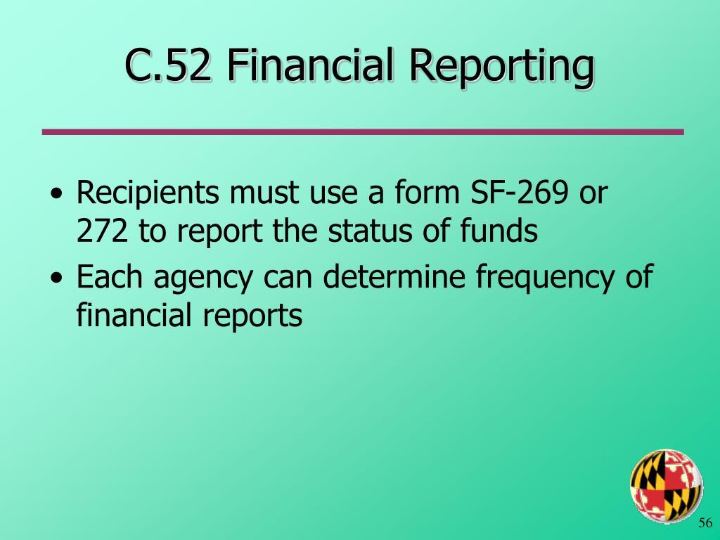 C.52 Financial Reporting