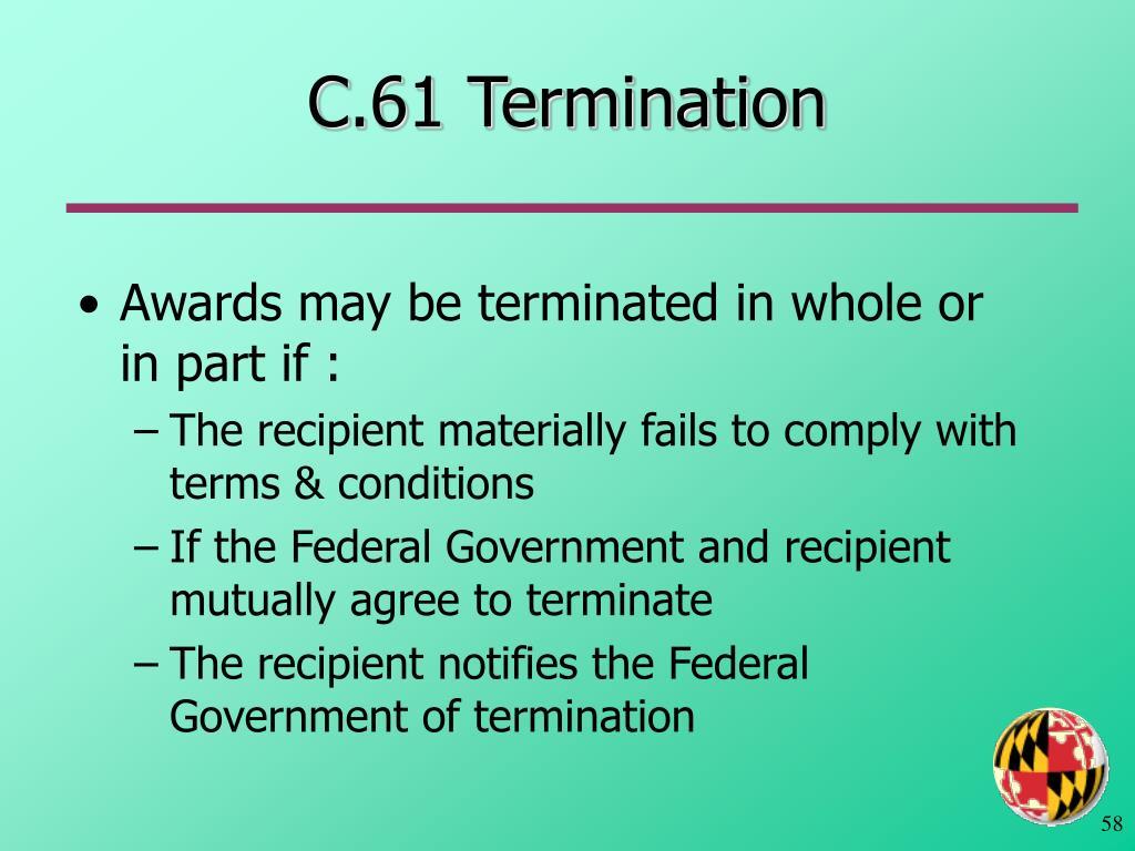 C.61 Termination