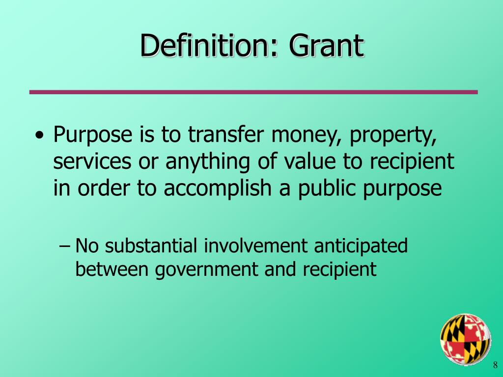 Definition: Grant
