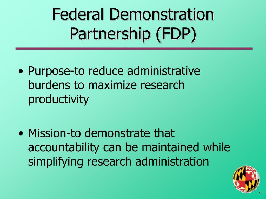 Federal Demonstration Partnership (FDP)