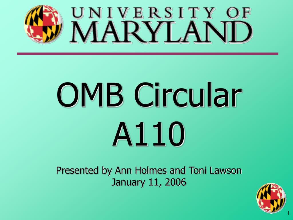 OMB Circular A110