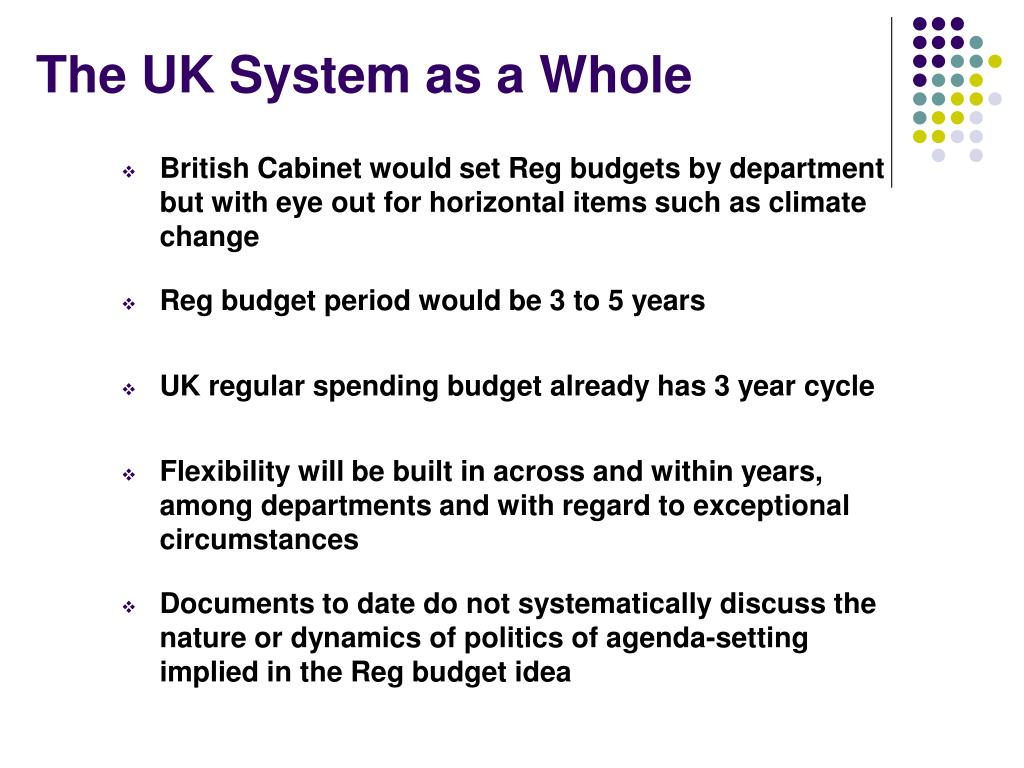The UK System as a Whole