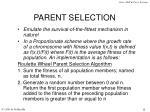 parent selection