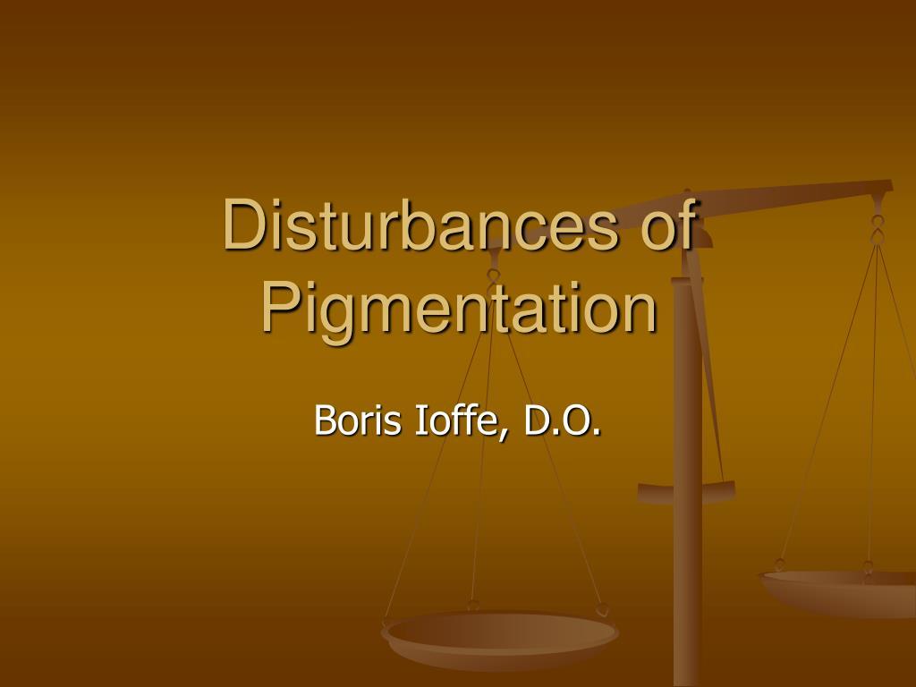 disturbances of pigmentation l.