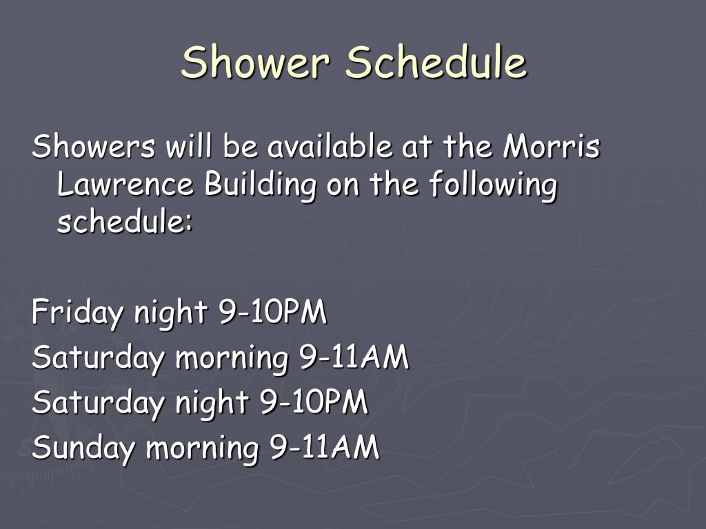 Shower Schedule
