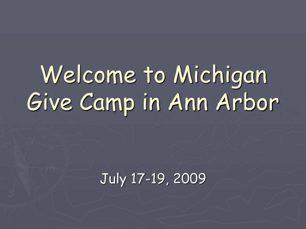 Welcome to Michigan Give Camp in Ann Arbor
