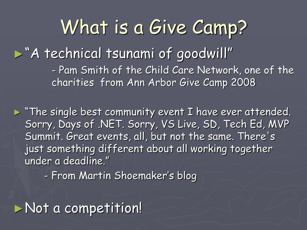 What is a Give Camp?