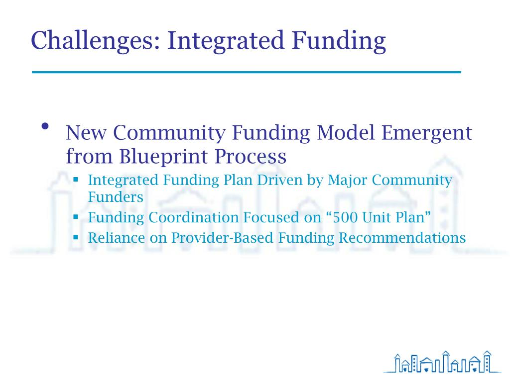 Challenges: Integrated Funding