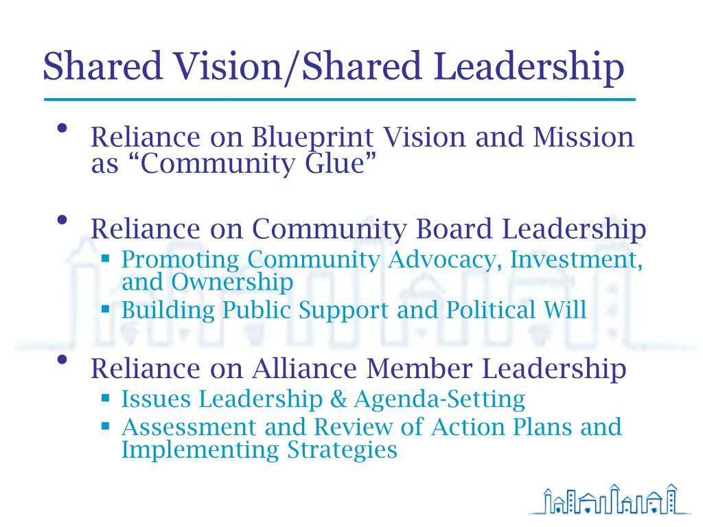 Shared Vision/Shared Leadership
