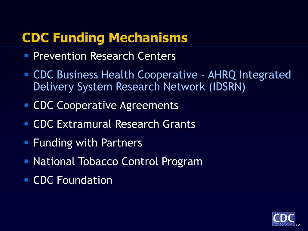 CDC Funding Mechanisms