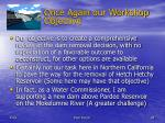 once again our workshop objective