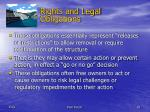 rights and legal obligations