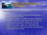 rights and obligations continued